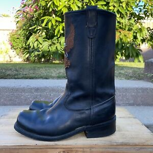 HARLEY-DAVIDSON Men's Classic EAGLE Pull-On Boots Size 9.5, ** No Harness**
