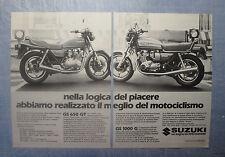 MOTOSPRINT982-PUBBLICITA'/ADVERTISING-1982- SUZUKI GS 650 GT + GS 1000 G