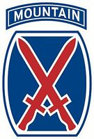 US Army 10th Mountain Division Decal Window Sticker USA