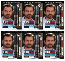 6 Da Uomo Instant Mascara Tinta per Capelli Barba Baffi Sopracciglia Basette Marrone Scuro