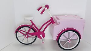 """Paradise Kids 18"""" Doll Pink Ice Cream Bicycle-fits American Girl Our Generation"""