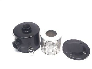 """Unbranded In/ Out 2-3/4"""" Threaded Black Housing w/ 5"""" x 5"""" Filter, Pneumatic"""