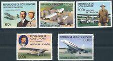 Elfenbeinküste - Geschichte der Luftfahrt Satz postfrisch 1977 Mi. 511-515