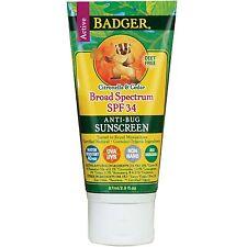 Badger Company, Anti-Bug Sunscreen, Broad Spectrum SPF 34, 2.9 fl