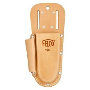 Felco 910 Plus leather holster for secateurs - Loop and clip with side pocket