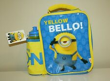 Zak Despicable Me Minions Insulated Lunch Bag with Water Bottle - New