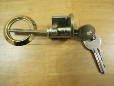 Night Latch replacement cylinder lock 33mm brass 2 keys