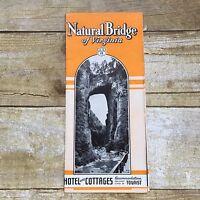 Vintage Travel Brochure Natural Bridge Virginia Vacation Hotels Etc Very Old