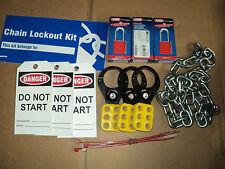 BRADY LK041R Portable Lockout Kit, Filled, 3 PADLOCK