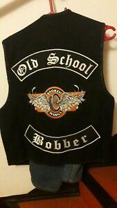 Lederweste Nubukleder Rocker Club Weste Motorrad Biker Kutte Gr. M  BobberPatch