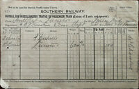 Southern Railway Waybill for Miscellaneous Traffic By Passenger Train Sept 1934