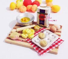 1/12 Dollhouse Miniature kitchen food cake Egg Milk DIY board