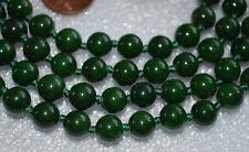Green Mashan Jade Hand Knotted Japa Mala beads, Healing Jewelry Beads Necklace