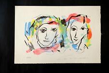 ERNESTO TRECCANI - Litografia su Cartoncino  20x30 Originale!!! 100%!!!