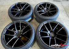 "17"" Niche Targa M130 Black DDT Wheels with tires fits Scion XB TC 5x114.3"