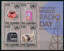 Gambia 2013 MNH UN United Nations World Radio Day 4v M/S Technology Stamps