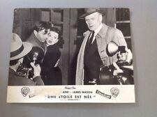 PHOTO D'EXPLOITATION (LOBBY CARD) : UNE ÉTOILE EST NÉE (Judy Garland - J. Mason)