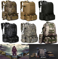 Waterproof 55L Outdoor Military Molle Tactical Backpack Rucksack Camping Hiking