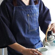 Unisex Kitchen Jeans Grembiule Chef BBQ Antivegetativa con tasca per la