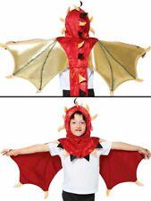 Childs Dragon Cape Fancy Dress Fairytale Costume World Book Day Week Boys Girls