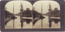 Moulins Pays-Bas Holland Photo Stereo Vintage Argentique