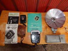 LOT of Camera Equipment GE PR-1 Exposure Meter, PR-30 Mascot Meter, Folding Mite