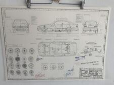 BMW E36 Coupé   Ab 1994 Konstruktionszeichnung Blueprint