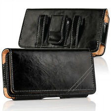 CELL PHONES HORIZONTAL LUXURY LEATHER POUCH CASE COVER WITH BELT CLIP HOLSTER