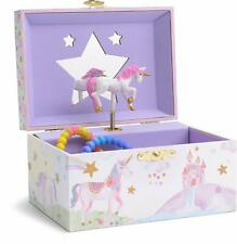 Jewelkeeper Girl's Musical Jewelry Storage Box with Spinning Unicorn