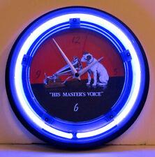 Retro Style Rca Victor Nipper Dog Neon Wall Clock -New Clock w/ Tube Radio Style