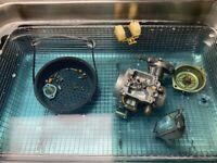 ATV DIRT BIKE ULTRASONIC CARBURETOR CLEANING SERVICE MIKUNI KEIHIN REBUILD