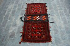 1'11 x 4'3 Feet Beautiful Handwoven Afghan Tribal Wool Baluchi Saddle Bag.