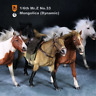 Mr.Z 1/6 Mongolica Mongolian Horse Figure Battle Steed Animal Collector Toy Gift