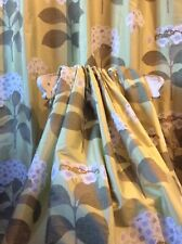 Beautiful Sanderson Lace Cap Green Silk Curtains Thermal Blackout ENORMOUS