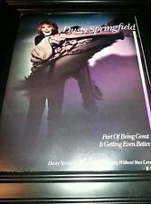 Dusty Springfield Living Without Your Love Rare Original Promo Poster Ad Framed!