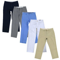 Polo Ralph Lauren Mens Chinos Classic Fit Flat Front Pants Work Bottoms Zip Fly