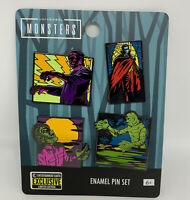 Universal Monsters Enamel Pin Set EE Exclusive Set of 4 NEW