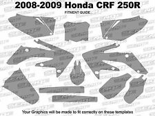 2008 2009 CRF 250R GRAPHICS KIT CRF250R 250 R DECO STICKER DECALS 4-STROKE