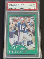 2002 Topps Chrome #100 Tom Brady, PSA 10 / GEM MINT