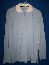 Mens VAN LAACK Light Blue Long Sleeve Polo Style Shirt size S?