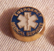 Charm - Gold-tone - New Emergency Medical Services Floating Locket