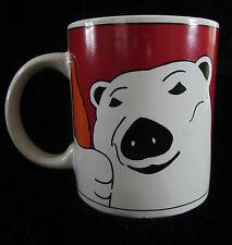 Vintage Coca Cola Polar Bear Christmas Collectors Coffee Mug