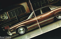 1973 Pontiac LUXURY LeMANS Sales Brochure with Color Chart: Le Mans