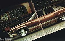 1973 Pontiac LUXURY LeMANS Sales Brochure with Color Chart: Le Mans