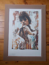 """Lithographie Gered Mankowitz """" Keith Richards """" , numérotée et estampillée"""
