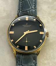 VTG BREITLING DIAMETER 35mm BLACK DIAL 18KTS GOLD PLATED CASE FROM 1950 APROX.