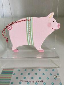 Aspegren Maileg rosa, rotes Schwein Schweinchen zum Aufhängen Tilda selten NEU