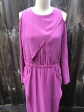Sass & Bide Silk Tales Dress size 40 AU 10 Purple Dress with Splits Preloved