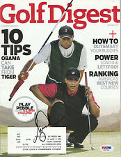 Tiger Woods Signed Auto'D January 2010 Golf Digest Psa/Dna Coa Masters Us Open