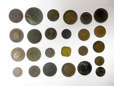 India Mixed Lot of Anna Coins 1832 -1936 Never Cleaned Really Nice Group of Coin